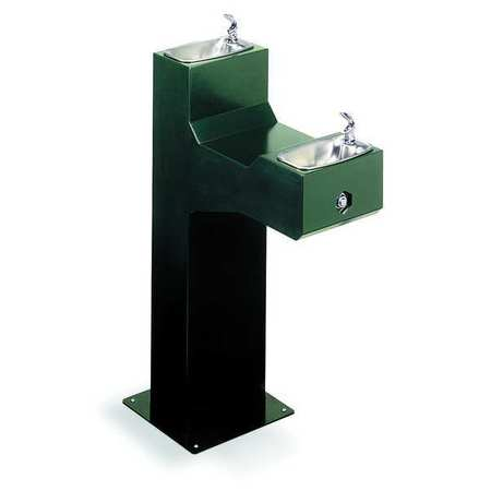 Outdoor Drinking Fountain,  Pedestal,  Push Button Operation ,  ADA