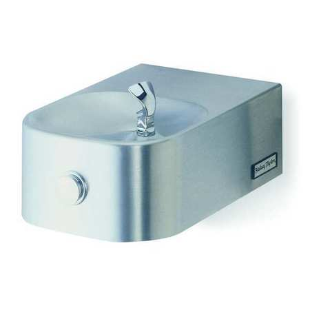 Indoor/Outdoor Drinking Fountain,  Wall Mount,  Push Button Operation ,  ADA