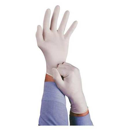 Disposable Gloves, Latex, L, Natural, PK100