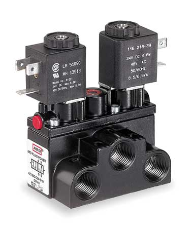 Solenoid Air Control Valve, 3/8 In, 24VDC