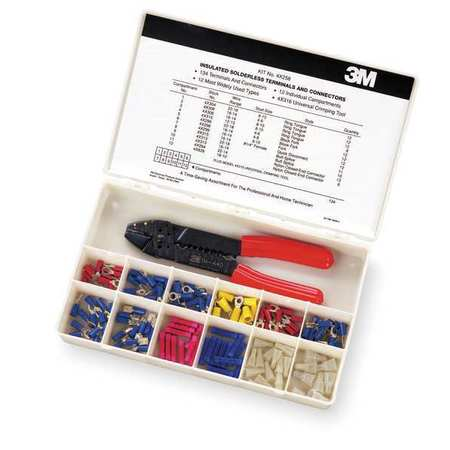 Wire Termnl Kit, With Crimp Tool, 134 pcs.