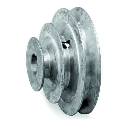 "5/8"" or 1/2"" Bore 3 Step V-Belt Pulley 3""-5"" OD"