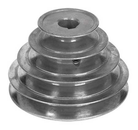 "5/8"" or 1/2"" Bore 4 Step V-Belt Pulley 2""-4"" OD"