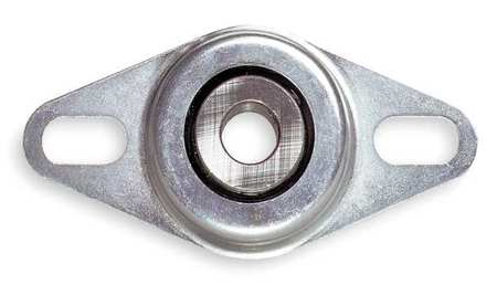 "Flange Bearing, 2-Bolt, Ball, 5/8"" Bore"