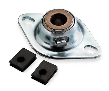 "Flange Bearing, 2-Bolt, Sleeve, 3/4"" Bore"