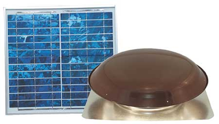 1000 CFM Roof Mount Solar Attic Fan,  18 DCV