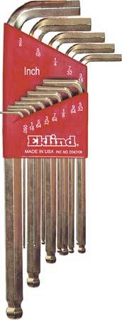 Ball End Hex Key Set, Pieces 13, S17