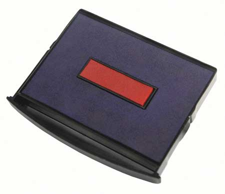 Stamp Pad, Dual Color, Blue/Red