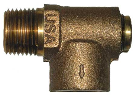 Nonadjustable Relief Valve, 1/2 In, 75 psi