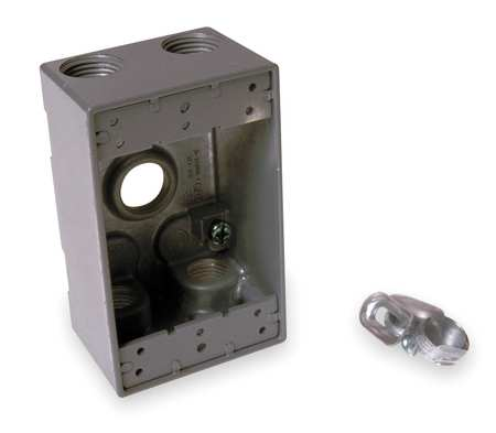 Weatherproof Box, 1/2 in Hub, Aluminum