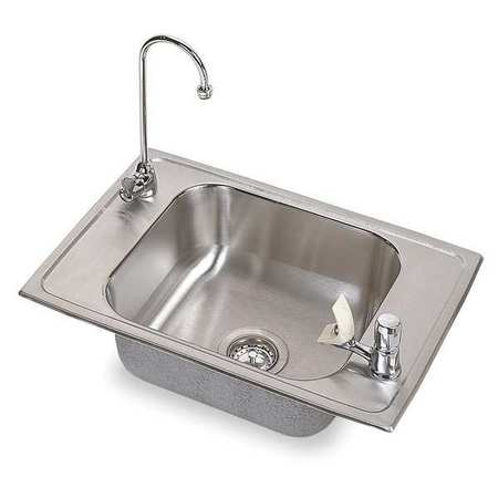 Drop-In Sink with Faucet, Stainless Steel