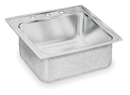 Drop-In Sink with Faucet Ledge, 19 In. W