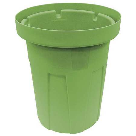 25 gal. Green Polyethylene Round Food-Grade Waste Container
