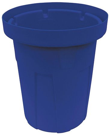 25 gal.  Round  Blue  Trash Can