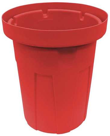 22 gal.  Round  Red  Trash Can