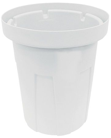 50 gal. White Polyethylene Round Food-Grade Waste Container