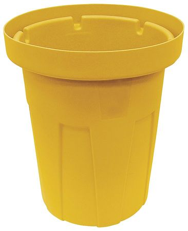 35 gal.  Round  Yellow  Trash Can
