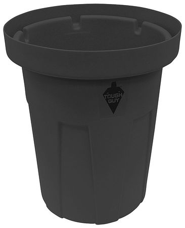 55 gal. Black Polyethylene Round Food-Grade Waste Container