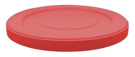 Trash Can Top, Flat, Snap-On Closure, Red