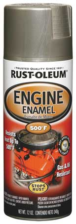 Engine Enamel, Aluminum, 12 oz, Spray
