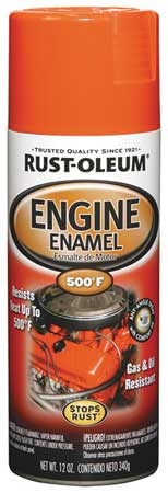 Engine Enamel, Chevy Orange, 12 oz, Spray