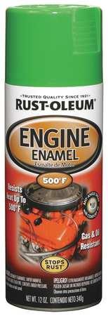 Engine Enamel, Grabber Green, 12 oz, Spray