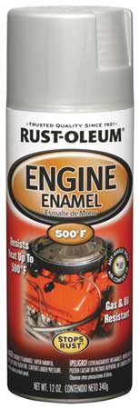 Engine Enamel, Cast Coat Alum, 12 oz, Spray