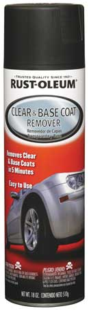Clear and Base Coat Remover, 18 oz.