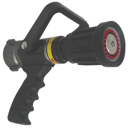 Fire Hose Nozzle, 1-1/2 In., Black