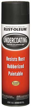 Rubberized Undercoating, Black, 15 oz