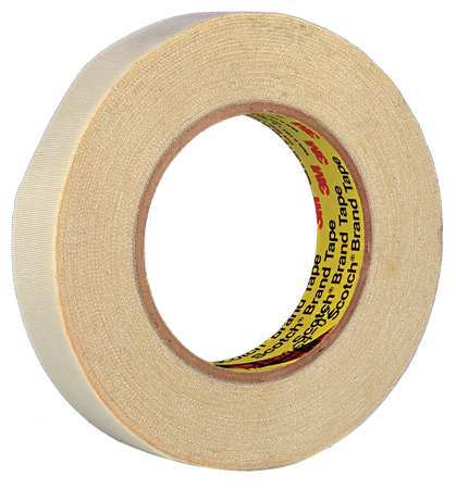 Cloth Tape, 2 In x 25 ft, 54 mil, Tan, Vinyl