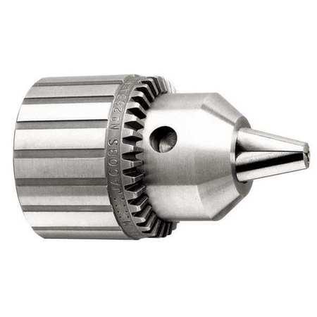 Drill Chuck, Keyed, Steel, 1/2 In, 1/2-20
