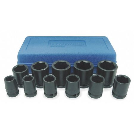 "Impact Socket Set,  1/2"" Dr,  11 pc"