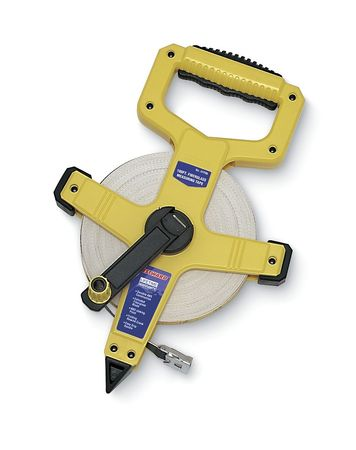 Long Tape Measure, 1/2Inx100ft, Fiberglass
