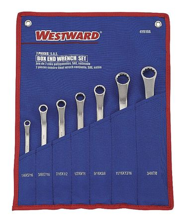 "Box End Wrench Set, 1/4"" to 7/8"", 7 pcs."