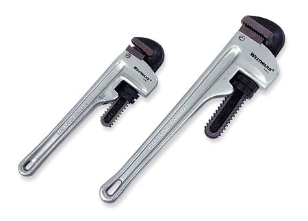 "Pipe Wrench Set, 2PC, 10"",  14"" L, Aluminum"