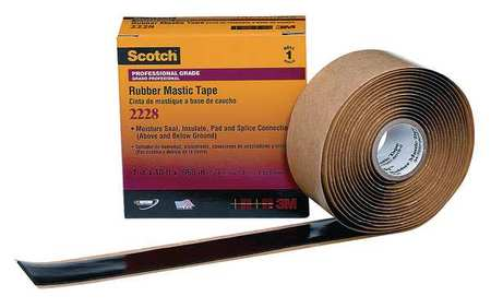 "Mastic Tape, 65 mil, 1"" x 10 ft., Black"