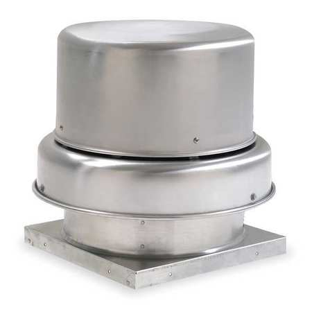 Downblast Vent, Belt Drive, 24-1/2 In