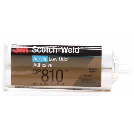 Acrylic Adhesive, Tan, 50mL, Duo-Pak