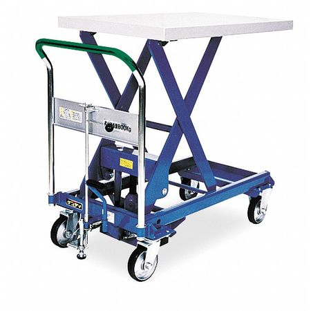 Scissor Lift Cart, 1760 lb., Steel, Fixed