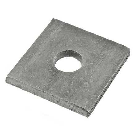 Rivet Washer, Zinc, Sq, 3/32 x1/2 In, PK500