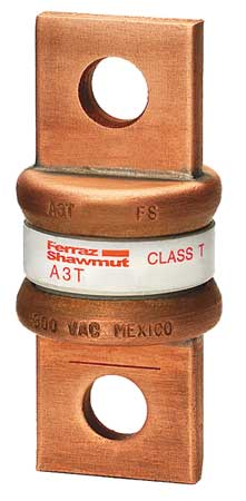 125A Fast Acting Glass/Melamine Class T Fuse 300VAC/160DC