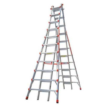Telescoping Step Ladder, 20-1/2ft, IA, Alm