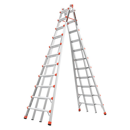 Telescoping Step Ladder,20-1/2ft,IA,Alm