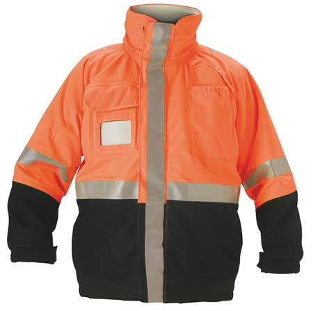 Flame Resistant Jacket,  Fluorescent Orange/Navy,  Nomex(R),  3XL