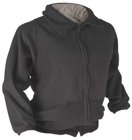 Flame Resistant Jacket Liner,  Black,  Nomex(R),  2XL