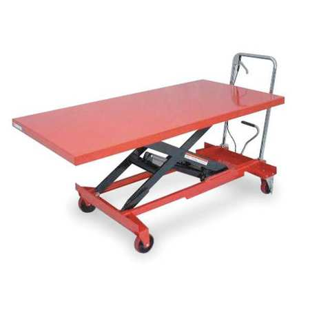Scissor Lift Cart, 1000 lb., Steel, Fixed