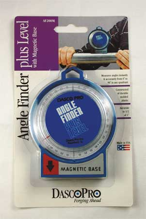 Angle Finder, Mag, 0-90 Deg, 2-1/4 Base