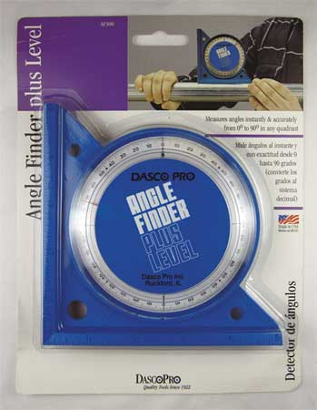 Angle Finder, V-Groove, 0-90 Deg, 5 In Base