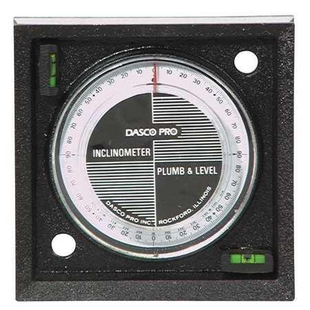 Inclinometer, Mag, 0-90 Deg, 4 In Base